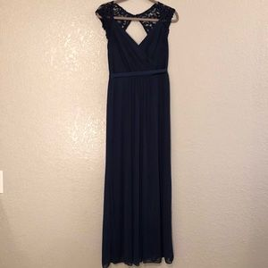 Navy Bridesmaids Gown